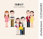 family set  vector illustration | Shutterstock .eps vector #1125160283