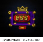slots neon sign isolated on... | Shutterstock .eps vector #1125160400