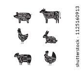 diagrams for butcher shop. meat ...   Shutterstock .eps vector #1125160913