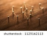 a small network developing in... | Shutterstock . vector #1125162113