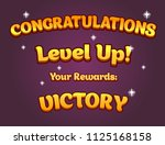 game ui set of congratulations...