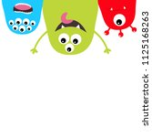 three monster silhouette set.... | Shutterstock .eps vector #1125168263