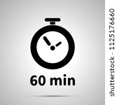 sixty minutes timer simple... | Shutterstock . vector #1125176660