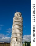 campanile  leaning tower of... | Shutterstock . vector #1125181016