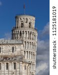 campanile  leaning tower of... | Shutterstock . vector #1125181019