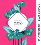 greeting invitation card ... | Shutterstock .eps vector #1125185429
