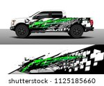 truck and car decal wrap vector ...   Shutterstock .eps vector #1125185660