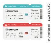 realistic modern cinema tickets ...   Shutterstock .eps vector #1125187160