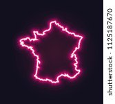 abstract neon map of france...   Shutterstock .eps vector #1125187670