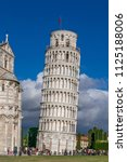 campanile  leaning tower of... | Shutterstock . vector #1125188006