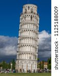 campanile  leaning tower of... | Shutterstock . vector #1125188009