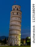 campanile  leaning tower of... | Shutterstock . vector #1125188099