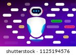 chat bot  robot virtual... | Shutterstock .eps vector #1125194576