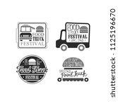vector set of 4 creative... | Shutterstock .eps vector #1125196670