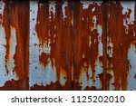 abstract rusty metal texture ... | Shutterstock . vector #1125202010