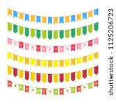 vector flag garlands for... | Shutterstock .eps vector #1125206723