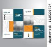 business cover brochure... | Shutterstock .eps vector #1125209729