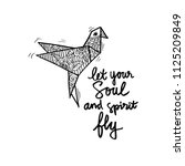 let your soul and spirit fly.... | Shutterstock .eps vector #1125209849