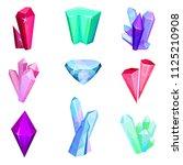 mineral crystalic precious... | Shutterstock .eps vector #1125210908