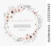 vector floral design card.... | Shutterstock .eps vector #1125215663