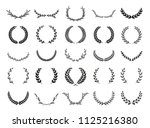 collection of different black... | Shutterstock .eps vector #1125216380