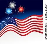 patriotic background | Shutterstock .eps vector #112521650