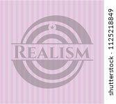 realism retro style pink emblem | Shutterstock .eps vector #1125218849
