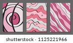 vector covers set in hand drawn ... | Shutterstock .eps vector #1125221966