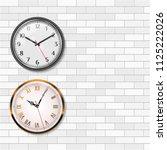 antique wall clock  gold wall... | Shutterstock .eps vector #1125222026