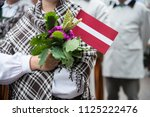 national latvian elements and... | Shutterstock . vector #1125222476