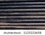 oil drill pipe. rusty drill... | Shutterstock . vector #1125223658