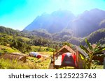 landscape mountain and forest... | Shutterstock . vector #1125223763