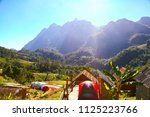 landscape mountain and forest... | Shutterstock . vector #1125223766