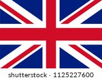 union jack   flag of the united ... | Shutterstock .eps vector #1125227600