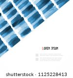 abstract hand drawn blue... | Shutterstock .eps vector #1125228413