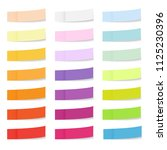collection of colored sticky... | Shutterstock . vector #1125230396