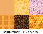 big collection of food seamless ... | Shutterstock . vector #1125236753