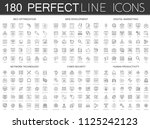 180 modern thin line icons set... | Shutterstock . vector #1125242123