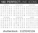 180 modern thin line icons set... | Shutterstock . vector #1125242126