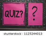 writing note showing quiz... | Shutterstock . vector #1125244013