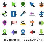 colored vector icon set  ... | Shutterstock .eps vector #1125244844