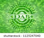 dab green emblem with triangle... | Shutterstock .eps vector #1125247040