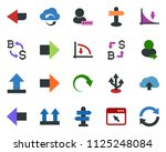 colored vector icon set  ... | Shutterstock .eps vector #1125248084