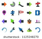 colored vector icon set  ... | Shutterstock .eps vector #1125248270