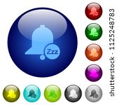 reminder snooze icons on round... | Shutterstock .eps vector #1125248783