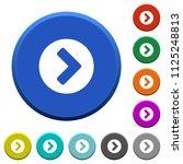chevron right round color... | Shutterstock .eps vector #1125248813