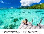 bora bora luxury travel...   Shutterstock . vector #1125248918