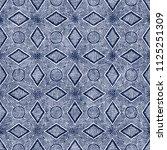 psychedelic geometric motif... | Shutterstock . vector #1125251309