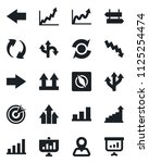 set of vector isolated black... | Shutterstock .eps vector #1125254474