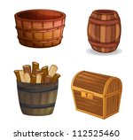 Illustration Of Various Wooden...